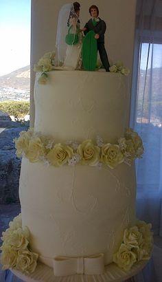Surfer's wedding cake - Hettie Jordaan Surfer Wedding, Celebration Cakes, Wedding Cakes, Create, Wedding Gown Cakes, Wedding Pie Table, Wedding Cake, Cake Wedding, Wedding Pies