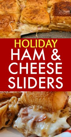 Holiday Ham, Holiday Treats, Holiday Parties, Holiday Recipes, Funeral Sandwiches, Baked Sandwiches, Ham Cheese Sliders, Ham And Cheese, Ham Recipes