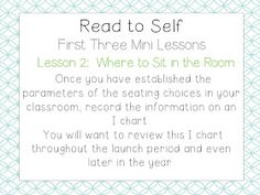 School Is a Happy Place: The Daily Five: The Big Three (Mini Lessons to Launch Read to Self and a FREEBIE) Big Three, Big 5, Grade 2, Third Grade, Daily 5 Rotation, Read To Self, Daily Five, Balanced Literacy, First Grade Teachers