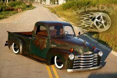 Chevrolet : Other Pickups AIR BAGGED 3100 HOT RAT ROD PATINA SHOP TRUCK in Chevrolet | eBay Motors