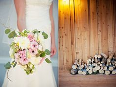 rustic pink bouquet by blossom sweet at a utah sundance wedding.