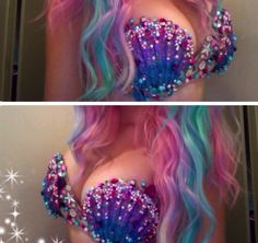 Cute mermaid bra
