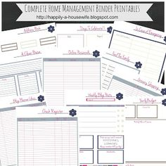 Happily A Housewife: Updated Home Management Binder