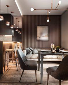 Kitchen Room Design, Home Room Design, Interior Design Kitchen, Living Room Designs, Small Apartment Interior, Apartment Design, Home Interior, Condo Living Room, Contemporary Interior Design