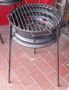 How to build a no-weld tire rim grill – DIY projects for everyone! Metal Projects, Welding Projects, Diy Projects, Diy Welding, Welding Tools, House Projects, Garden Projects, Diy Tools, Grill Diy