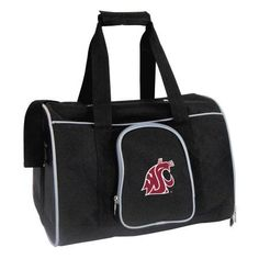 Ncaa Washington State Cougars 16 in. Premium Pet Carrier, Gray