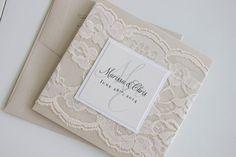 Beautiful lace wedding invitation by madisonjennifer on Etsy  https://www.etsy.com/listing/169848936/beautiful-neutral-custom-lace-wedding?ref=shop_home_active_7