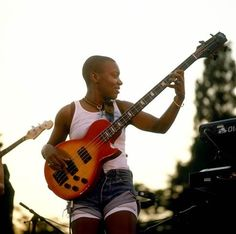 20 years, 11 albums and 10 Grammy nominations later, Ndegeocello honors the past and looks to the future with her latest musical pursuits. Meshell Ndegeocello, Rock And Roll Girl, Jazz Funk, African American Artist, Double Bass, Black Celebrities, Jazz Festival, Black Girl Magic, Reggae