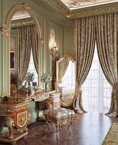 Golden classic bedroom