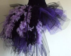 Purple Black Burlesque Moulin Rouge tutu skirt size 4 10 U. 6 12 U. on Etsy… Burlesque Costumes, Diy Costumes, Dance Costumes, Halloween Costumes, Purple Lilac, Purple And Black, Navy Blue, Lila Rock, Feather Tutu