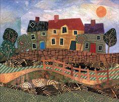 landscape quilts | Found on trapitosdecolores.blogspot.nl