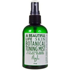 A Beautiful Life Facial Toner with Aloe and Rose Extracts: A gentle, balancing toning essence for men and women. Can be used after cleansing and before moisturizing. Works well to set makeup, as an after shave, or as a refresher anytime.