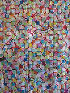 Great scrap quilt.  Clown Vomit - her name, not mine assembled! by { philistine made }, via Flickr