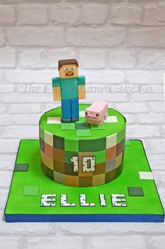 The Chain Lane Cake Co. Minecraft Torte, Minecraft Food, Minecraft Birthday Cake, Minecraft Funny, Lane Cake, Cake & Co, Pastel Minecraft, Mindcraft Cakes, Cake In A Can