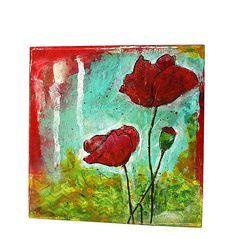 mixed+media+canvas+art | ... & Jill class – Mini Mixed Media Canvas Art | The Penny Black Blog