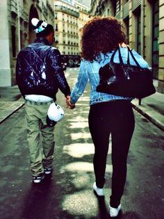 black couples in love