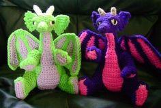 Baby Dragon PDF Crochet Pattern by GemCreations on Etsy https://www.etsy.com/listing/55472121/baby-dragon-pdf-crochet-pattern
