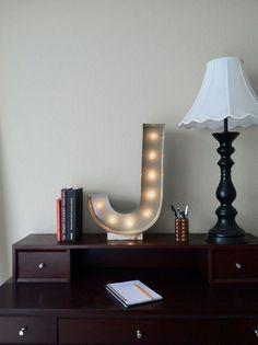 Vintage Inspired Marquee Light- Letter J