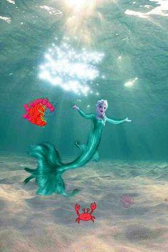 Stella as a mermaid. 18 and luvs ocean has powers