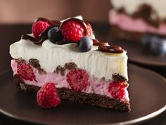 pics of desserts | Chocolate And Berries Yogurt Dessert | Pictures Of Food