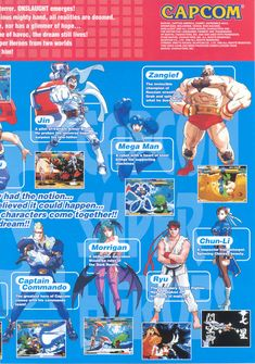 """only two female charcaters, one """"seductive"""" the other a """"chinese beauty"""" Marvel vs. Capcom - Clash of Super Heroes"""