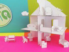 Conjunto de mueblecitos de cartón para decorar el castillo o la casita de campo. Home Decor, Cardboard Toys, Cardboard Furniture, Castles, Country, Decoration Home, Room Decor, Home Interior Design, Home Decoration