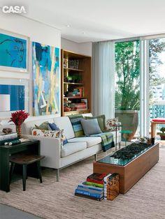 Sala, cores, moderno e classico