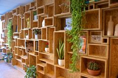 Image result for Wardrobe Wine Box Shelves, Wooden Box Shelves, Wooden Boxes, Design Projects, Wood Projects, Regal Design, Wood Architecture, Bookshelf Design, Coffee Shop Design