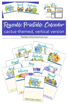 Printable Vertical Homeschool Calendar Have you been looking for a beautiful homeschool vertical calendar that will get you started on your homeschool year right? If so, then come and take a look at this great homeschool 12-month planner. #homeschoolcalendarideas #homeschool #homeschoolcalendarprintable #homeschoolprintableplanner Printable Planner, Printables, Fall Cleaning, How To Start Homeschooling, School Schedule, Homeschool Curriculum, Months In A Year, Blogging, Calendar