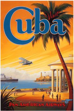 "#Cuba old poster ................. #GlobeTripper® | https://www.globe-tripper.com | ""Home-made Hospitality"" 
