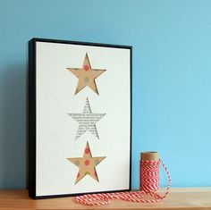 DIY Craft Kit Hand Cut Framed Stars by wallenvyart on Etsy, £11.50