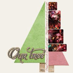 O Christmas Tree!   Digital Scrapbook Layout by Jen Reed