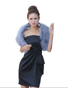 Kattee Women's Real Turkey Fur Shawl Wrap Wedding Party Coats     #Coats, #Kattee, #Party, #Real, #Shawl, #Turkey, #Wedding, #Womens, #Wrap