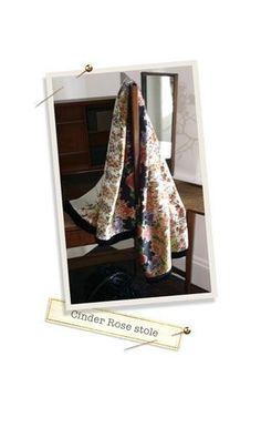 Cinder Rose silk stole on a forties teak dressing table