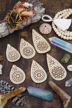 Flowers to Bones: Hand Carved Mandala Style Floral Bone Pendant