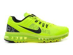 Nike Air Max 2013 Chaussures Nike Pas Cher Homme Volt/Noir 554886-701