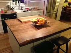 Live Edge Countertops, Wood Island Tops, Reclaimed Wood Vanity Top, Butcher…