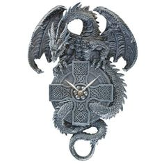 The Celtic Timekeeper Sculptural Dragon ... Design Toscano http://www.amazon.com/dp/B001R6DX28/ref=cm_sw_r_pi_dp_-9R2tb0V81F8S414