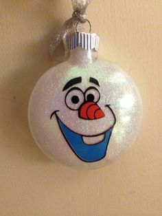 Custom Disney Frozen Olaf ornament with name by CraftyCuts4Christmas on Etsy