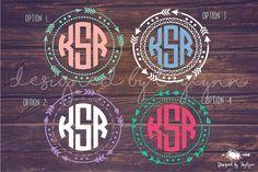 Arrow Border Decal, Arrow Monogram, Arrow Decal, Decals, Monogram Decals…