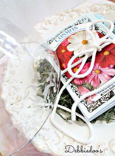 Martha Stewart Etched glass Spring Cloche