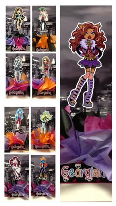 Monster High Birthday Party Centerpieces. Playpatterns.net