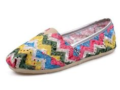 2012 Womens Toms shoes green orange white on sale
