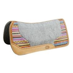 """Showman 32"""" x 31"""" Argentina cow leather saddle pad with Aztec print. ❤ liked on Polyvore featuring home, home decor and stationery"""
