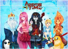 Anime adventure time! I would so watch it...