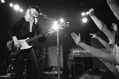 Johnny Winter performs (on bass) at The Agora Ballroom