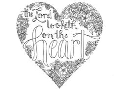 1Samuel 16:7.  just what i {squeeze} in: The Lord looketh on the heart -- Coloring Page 11