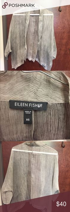 Eileen Fischer blouse, 100% silk Loose, for over top of cami, perfect condition Eileen Fisher Tops Blouses