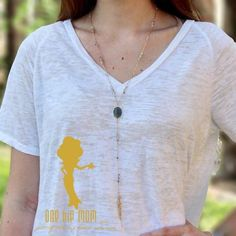 Y Necklace with tiny bead detail and gold tassel one hip mom women's clothing boutique spring texas