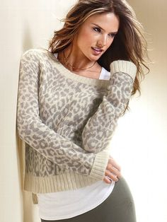 VS leopard sweater